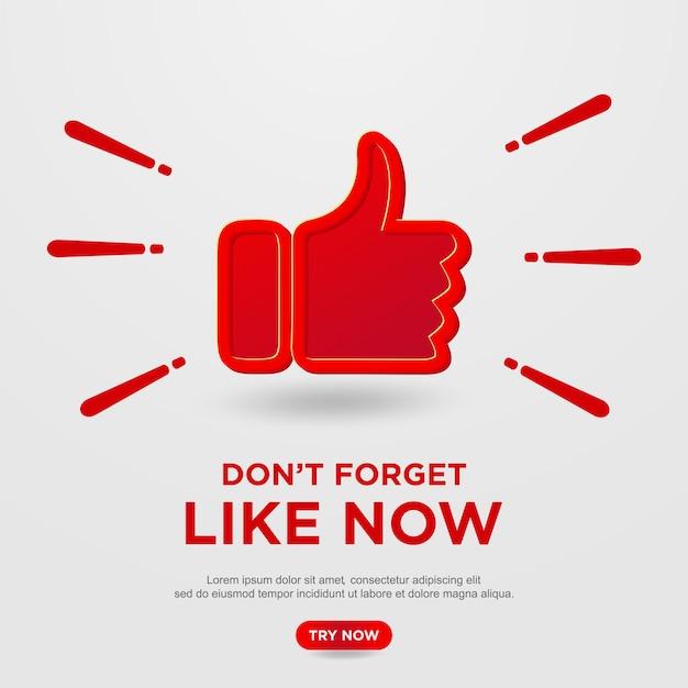 Like-knop op youtube-achtergrond Premium Vector