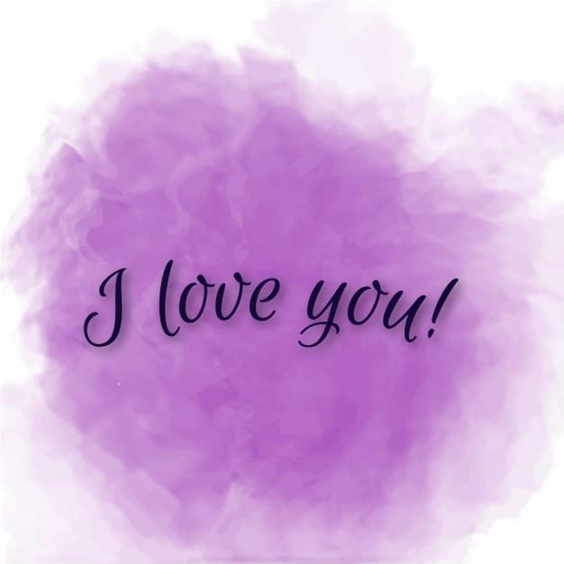 Uitzonderlijk Lila mooie liefde bericht Vector   Gratis Download @UG42