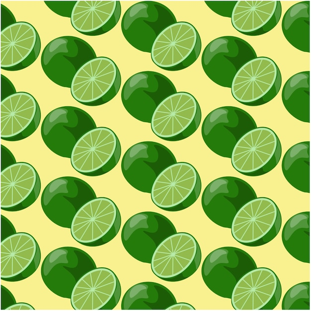 Lime patroon achtergrond Gratis Vector