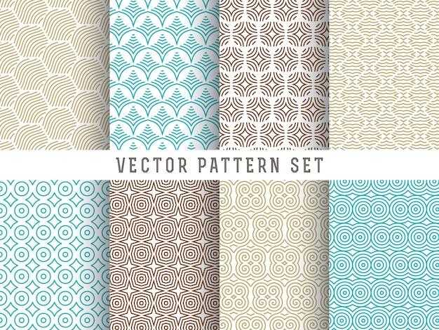 Line patroon set Gratis Vector