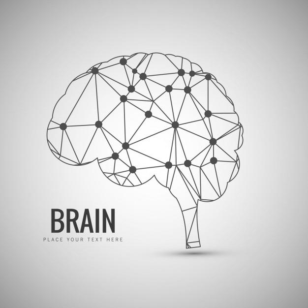 Lineal brain ontwerp Gratis Vector
