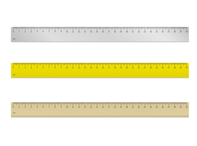 Liniaal 30 cm vector Premium Vector