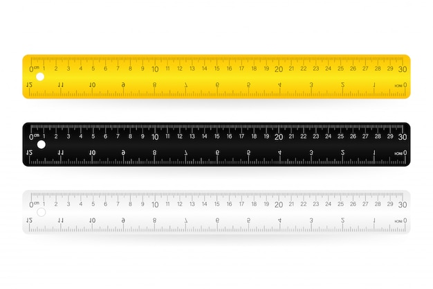 Liniaal, geïsoleerde pictogram pictogram op wit Premium Vector
