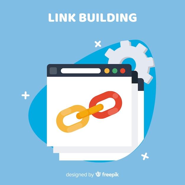 Link bouwconcept Gratis Vector