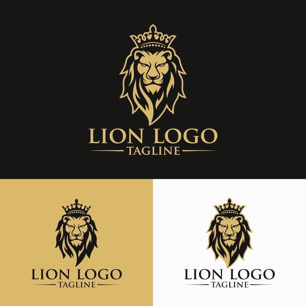 Lion logo images Premium Vector