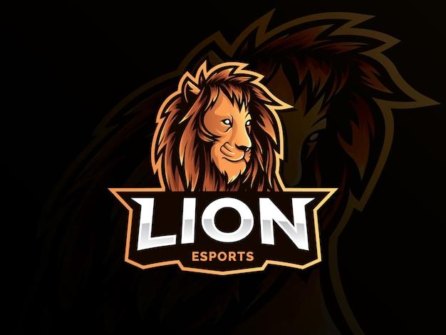 Lion mascotte sport stijl logo Premium Vector