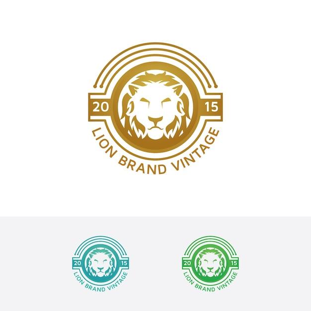 Lion merk vector logo sjabloon Premium Vector