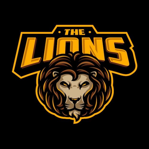 Lion sport logo Premium Vector