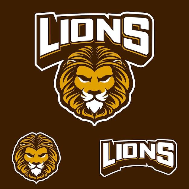Lions sport Premium Vector