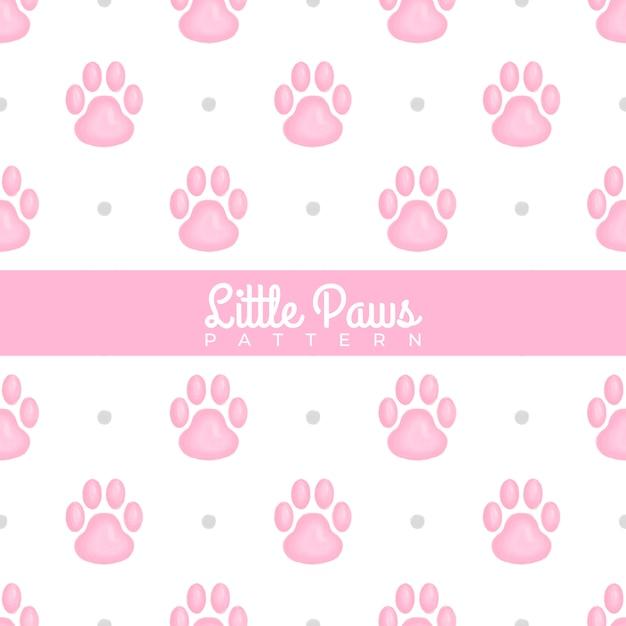 Little paws watercolor naadloos patroon Premium Vector