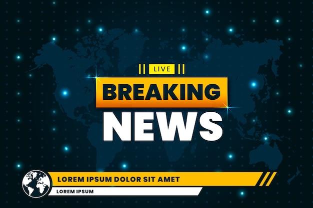 Live breaking news-ontwerp Gratis Vector