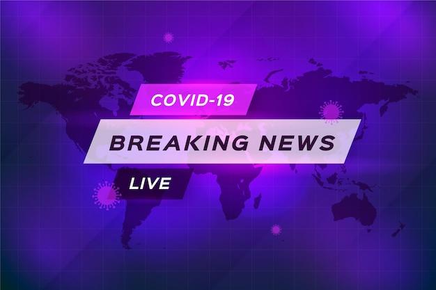 Live breaking news over coronavirus Gratis Vector