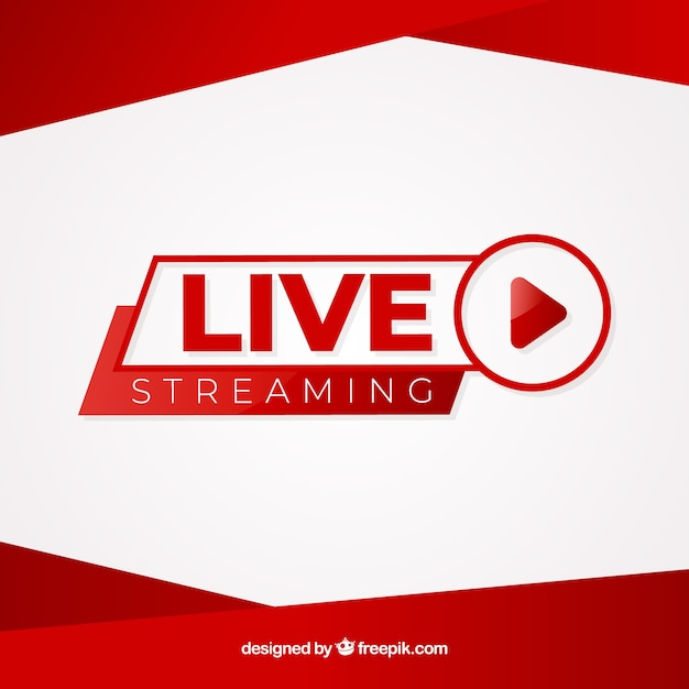 Live streaming achtergrond Gratis Vector