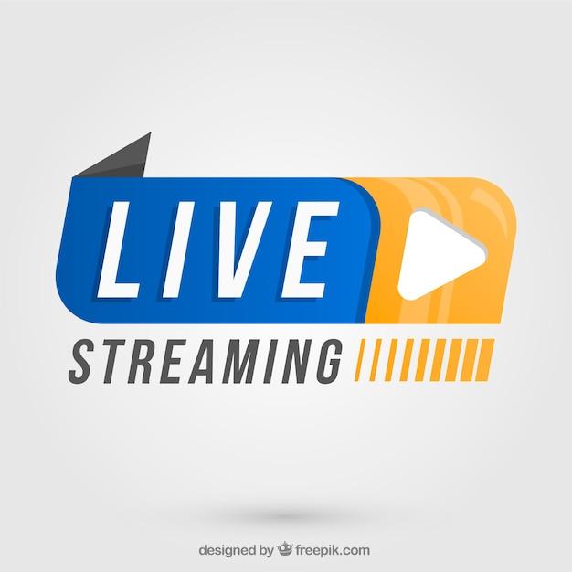 Live streaming achtergrond Gratis Vector