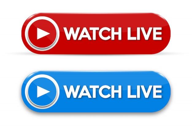 Live streaming concept geïsoleerd pictogram Premium Vector
