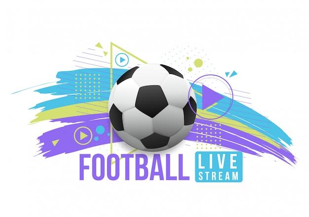 Live streaming voetbal Premium Vector