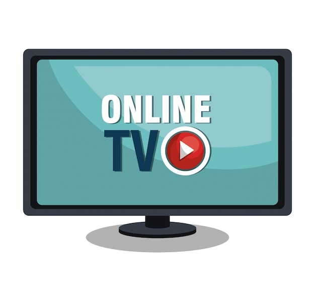 Live tv-stream Premium Vector