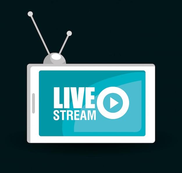 Live tv-stream Premium Vector
