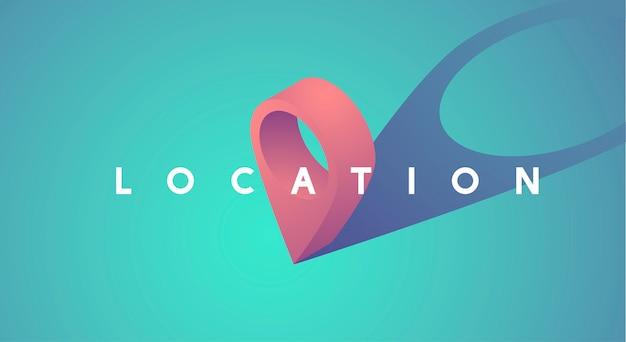 Locatie aanwijzer pictogram grafische vectorillustratie Gratis Vector