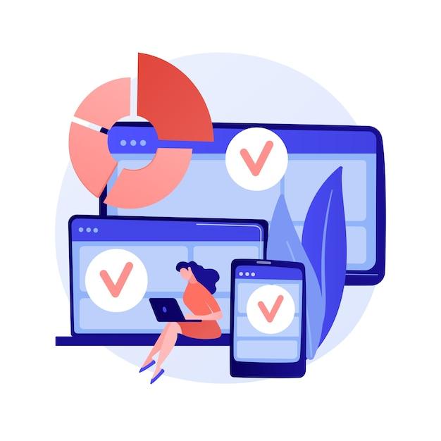 Log in op verschillende apparaten. responsief app-ontwerp. wifi-zone voor gadgets. online communicatie, sociale netwerken, webverbinding. initialiseer de aanmelding. vector geïsoleerde concept metafoor illustratie. Gratis Vector