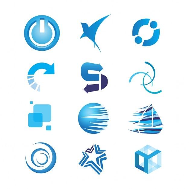 Logo collectie Gratis Vector