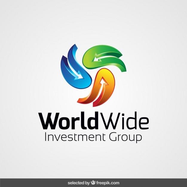 Logo gemaakt met abstracte pijlen Gratis Vector