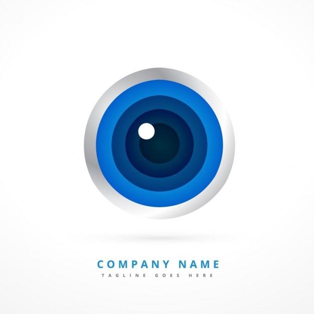 Logo met oogvorm Gratis Vector