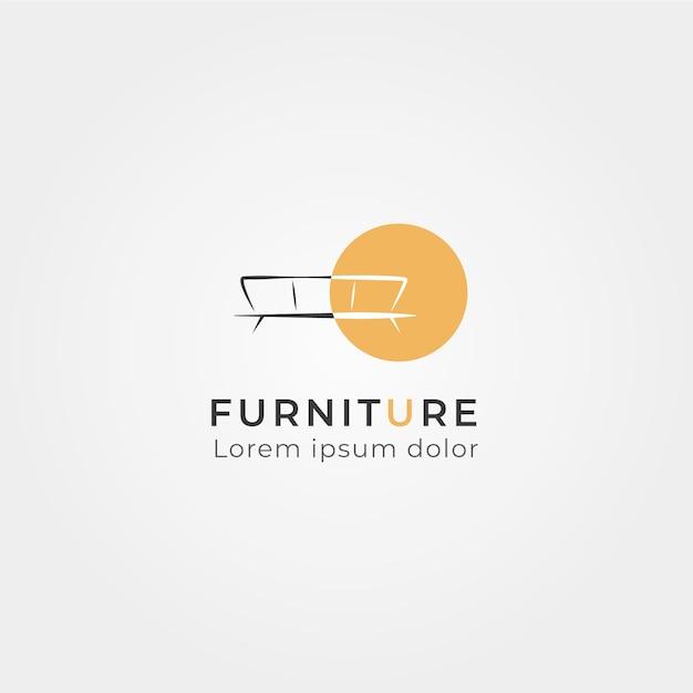 Logo minimalistisch meubilair Gratis Vector