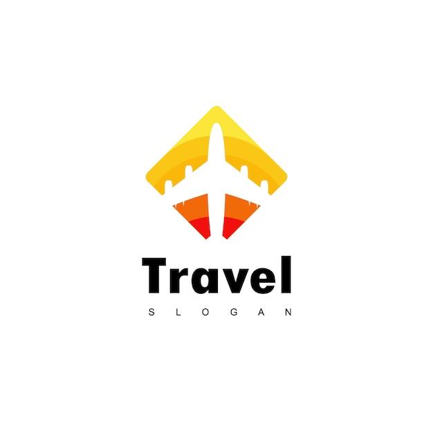 Logo ontwerp reizen Premium Vector