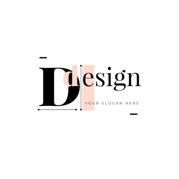 Logo ontwerpsjabloon met tijdelijke aanduiding voor slogan Gratis Vector