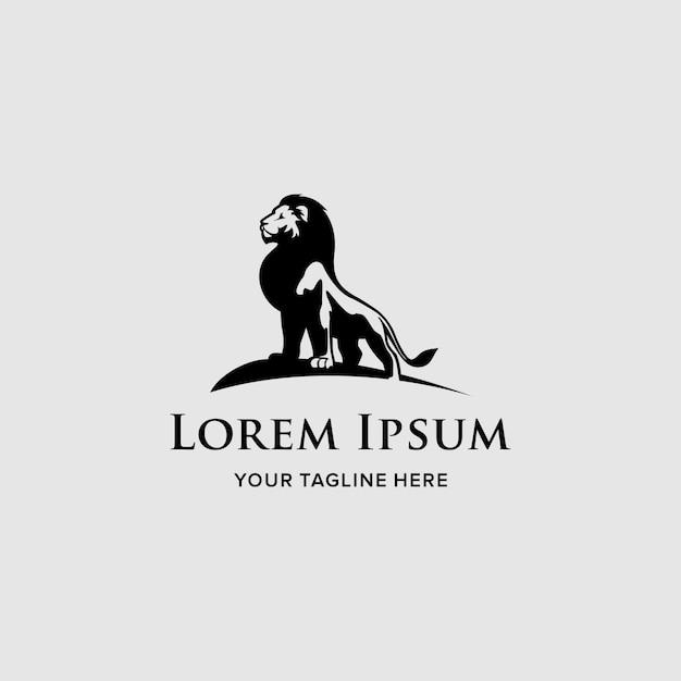 Logo sjabloon lion company Premium Vector