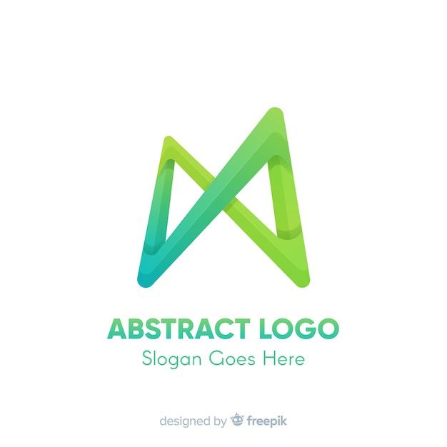 Logo sjabloon met abstracte vormen Gratis Vector