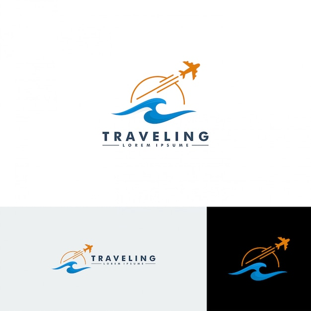 Logo-sjabloon reizen Premium Vector