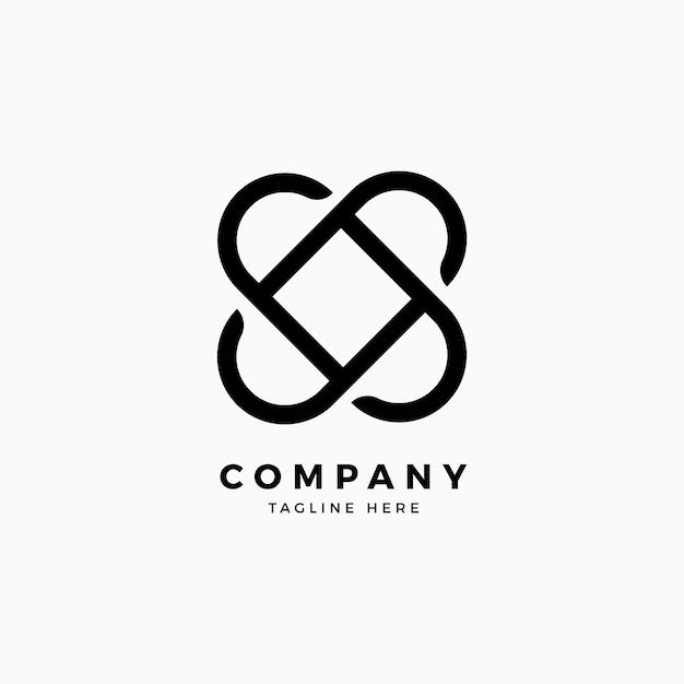 Logo sjabloon slotontwerp Premium Vector