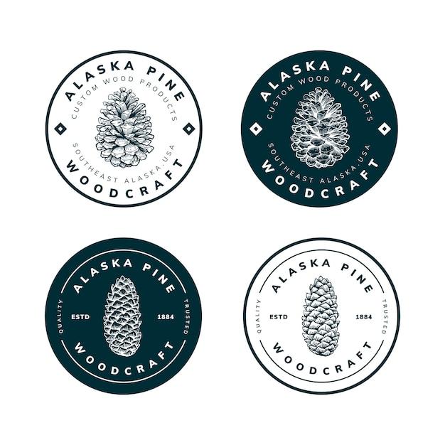 Logo sjabloonontwerp van natuurproject Premium Vector