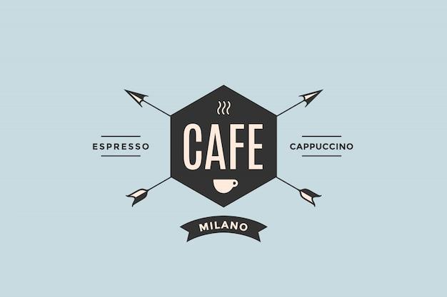 Logo van cafe met pijlen Premium Vector