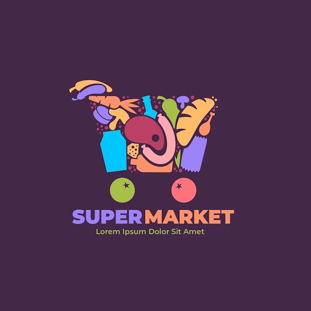 Logo van de supermarkt Gratis Vector