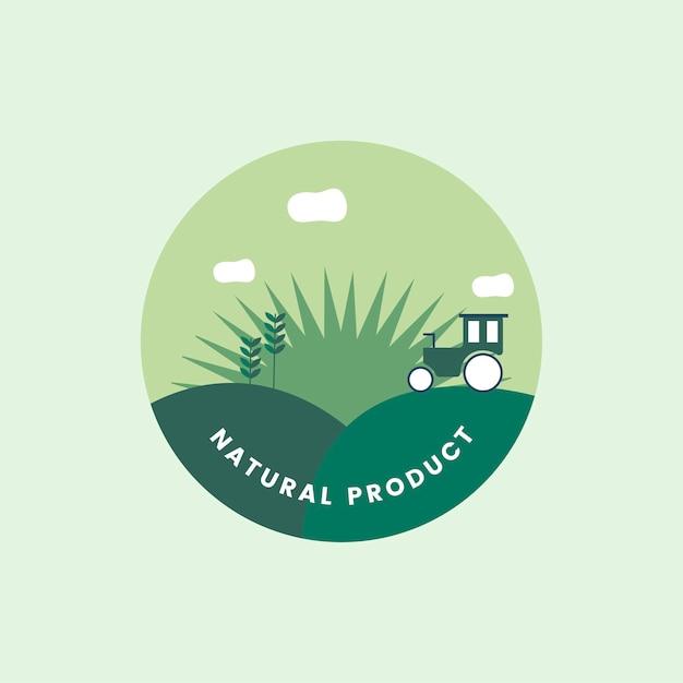 Logo van organisch natuurlijk product Gratis Vector
