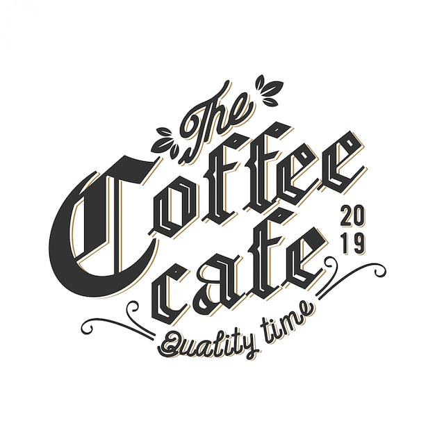 Logo voor coffeeshops of koffieproductlabels Premium Vector