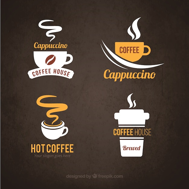 Logos koffie Gratis Vector