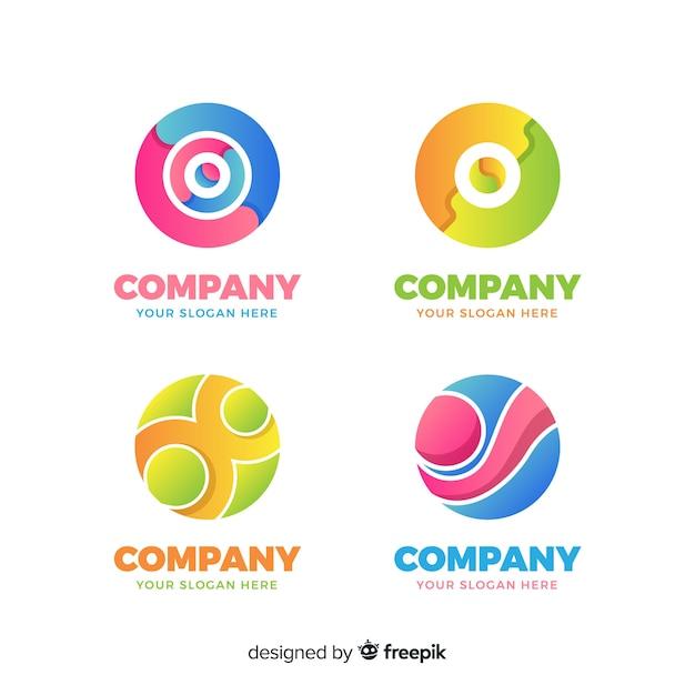 Logotype verzameling Gratis Vector