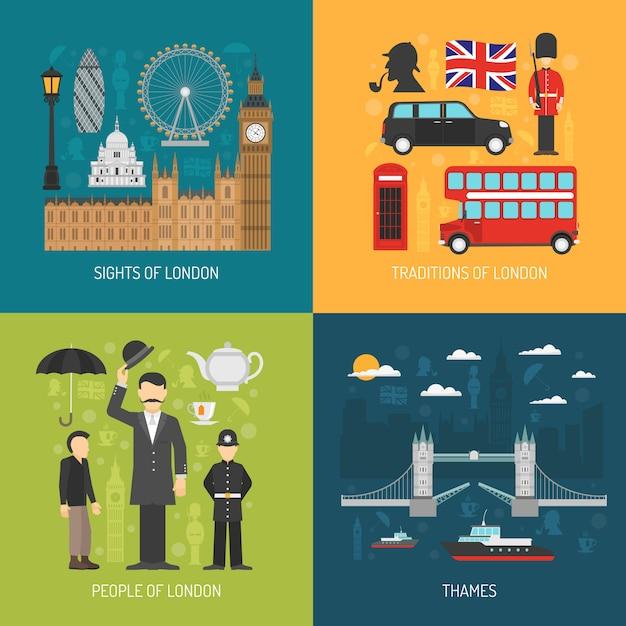 Londen concept vector afbeelding Gratis Vector