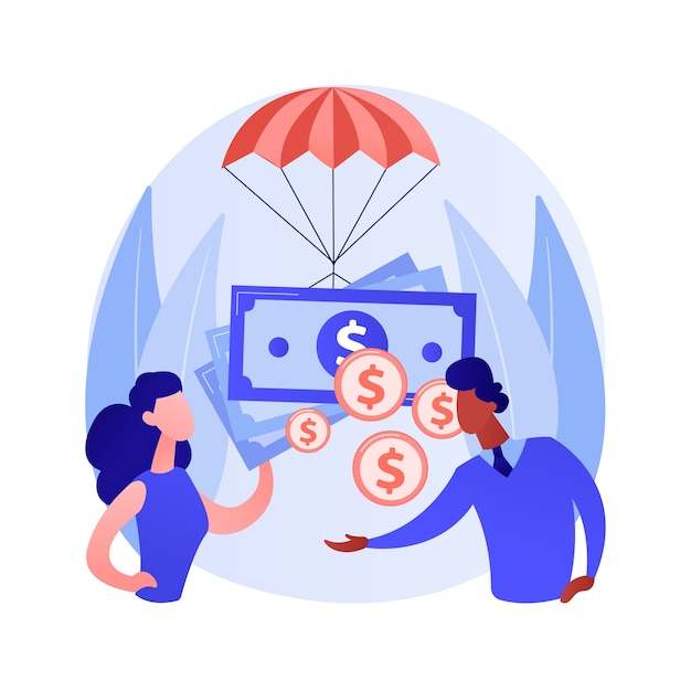 Loonsubsidie voor bedrijfsmedewerkers abstract concept Gratis Vector