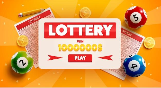 Loterijachtergrond met plaats voor tekst Premium Vector
