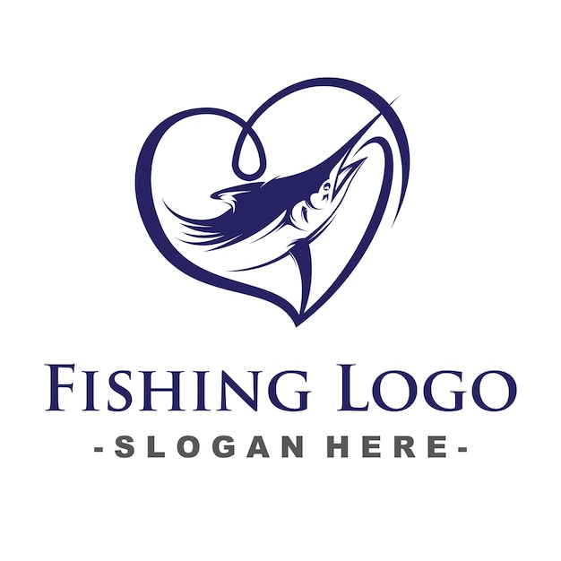 Love fishing-logo Premium Vector