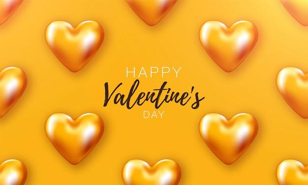 Love heart valentines. romantische dag backround poster naar promotie. speciale sjabloon om van te houden. romantische banner. Premium Vector