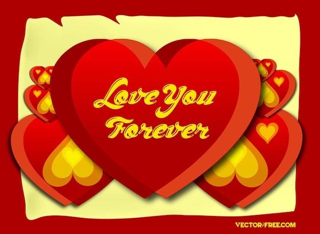 Love You Forever Harten Vector Vector Gratis Download
