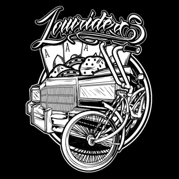 Low-rider levensstijl logo Premium Vector