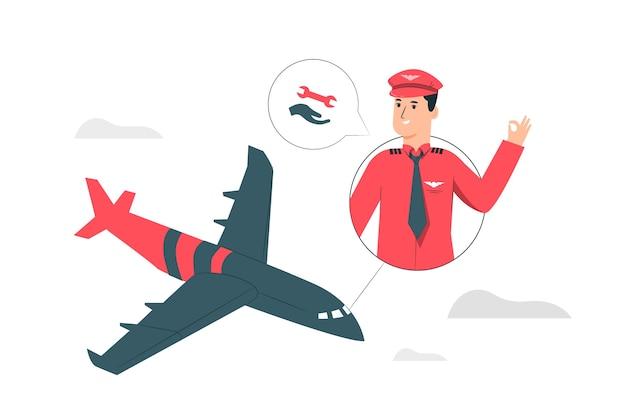 Lucht ondersteuning concept illustratie Gratis Vector