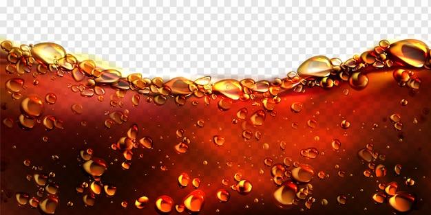 Luchtbellen cola, frisdrank, bier achtergrond Gratis Vector